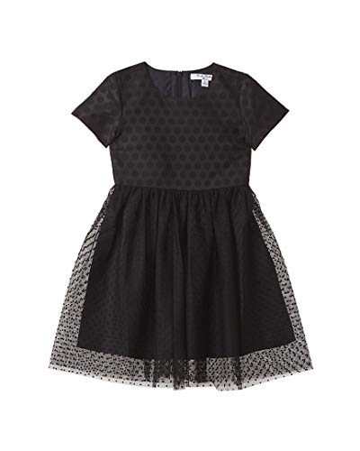 Brooks Brothers Girls Wool-Blend Dress, 16, Black