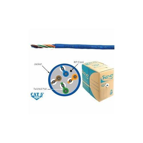 ICC ICC-ICCABR5EBL Cat5e Cmr Pvc Cable Blue White Box
