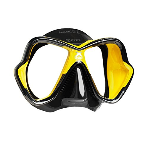 - Mares X-Vision Ultra Liquid Skin Dive Mask, Black/Yellow (Renewed)