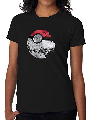 BBT Womens Pokemon Star Wars Death Star T-shirt Tee M (Bbt Shirts)