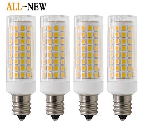 E12 Led Bulb, Dimmable E12 Candelabra Base Light Bulbs, 75W Equivalent 750 Lumens, 4 Packs for Chandelier, Ceiling Fan, Desk Lamp (Warm White)