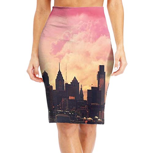 (Sunset in The City Womenâ€TMs Pencil Skirt Below The Knee Pencil Skirt Elegant Stretch Office Pencil Skirt for Any Occasion White)