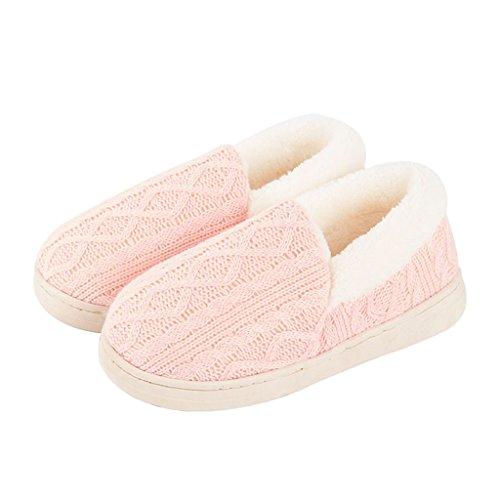 Chaussons DWW Pantoufles en Coton Pur DHiver Antidérapant Intérieur Féminin Intérieur Coton Confortable et Respirant (Couleur : Pattern 3, Taille : EUR:40-41)