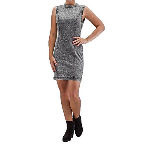VERO MODA VMSHINE Jeanskleid, dark grey denim Kleid Gr. L