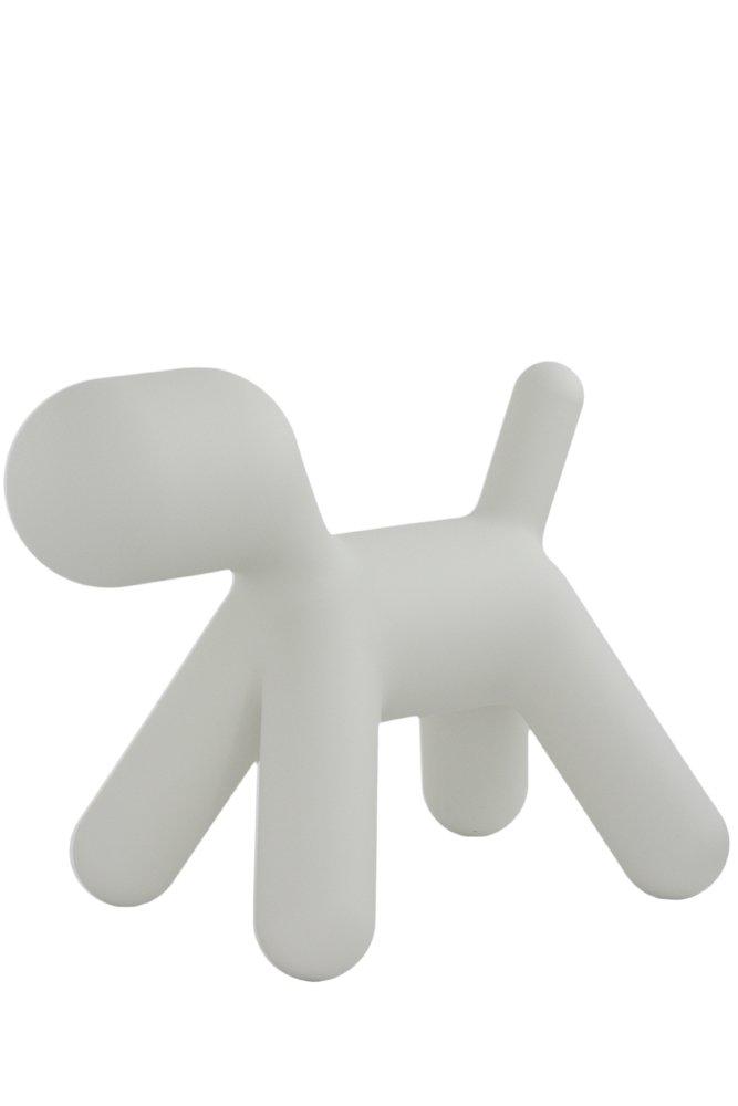 Magis Puppy L Hund, weiß Kunststoff LxBxH 69,5x42x56,5cm