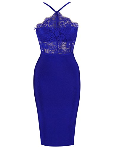 UONBOX-Womens-Sexy-Lace-Spliced-Backless-Spaghetti-Strap-Halter-Cocktail-Party-Bandage-Dress-XS-Blue