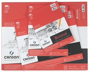 Canson Foundation Series Foundation Series Vellum Bristol, 14 x 17 Inches (C702-4607)