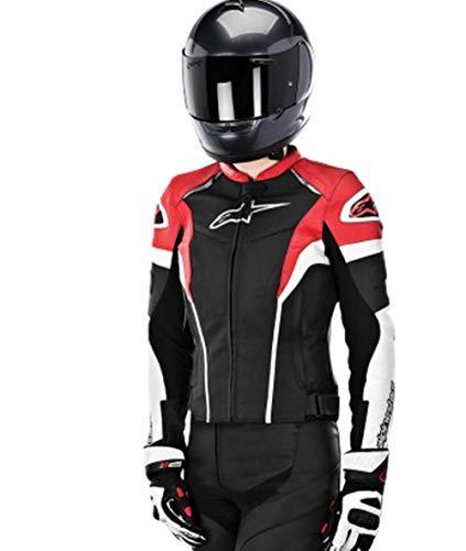 (Alpinestars Women's Stella GP Plus R Leather Jacket (44) (Black/White/RED))