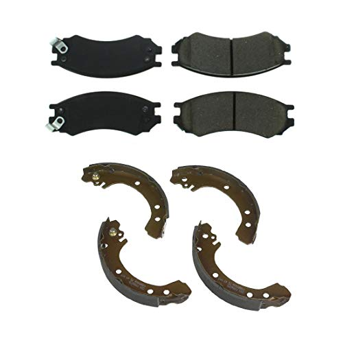 (AutoDN Front and Rear Metallic Brake Pads and Brake shoes 2SET For Saturn SC2 )