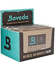 Boveda for Cigars/Tobacco | 75% RH 2-Way Humidity Control | Size 60 for Use with Every 25 Cigars a Humidor Can Hold | Patented Technology For Cigar Humidors | 12-Count Retail Carton