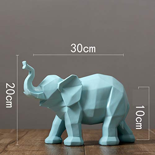 (LLSDLS Decoration Decoration Creative Thinker Office Living Room Home Interior Decoration Geometric Origami Elephant Ornaments CreativeMulti-Function Decoration Crafts (Color : Blue))