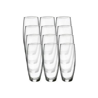 Luminarc Cachet 9-ounce Stemless Flute Glasses, 12 Pack