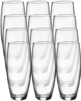 (Luminarc Cachet 9-Ounce Stemless Flute Glasses, 12 Pack, Clear)
