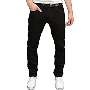 Smith & Jones Mens Designer Slim Fit Straight Leg Fashion Jeans