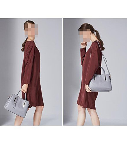 Sra. De La Moda Bolsa De Portátil De Hombro En Diagonal Black