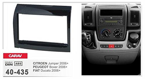 CARAV 40-435 2-DIN car head unit fascia facia installation dash kit for Citroen Jumper// Peugeot Boxer// Fiat Ducato 2006 Shiny Black Piano Finish