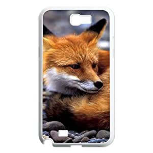 Samsung Galaxy Note 2 N7100 2D Personalized Hard Back Durable Phone Case with Fox Image