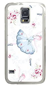 Brian114 Samsung Galaxy S5 Case, S5 Case - High Impact Defender Case for Samsung Galaxy S5 Ballerinas Fashion Print Patterns Clear Hard Case for Samsung Galaxy S5 I9600