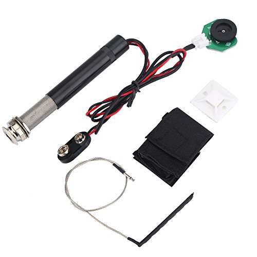 (Preamp Piezo Pickup Kit, Active Endpin Jack Piezo Transducer for Acoustic Guitar/Ukulele(for Guitar))