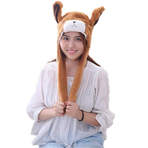 JJEUWE Funny Halloween Costume Movable Animal Ear Hat