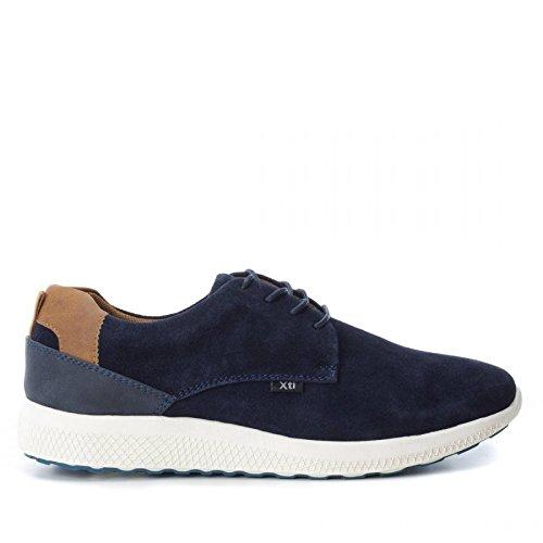 1df81b5e27c XTI Zapato de Hombre Men Plano con Cierre de Cordones Deportivo A Navy   Amazon.es  Zapatos y complementos