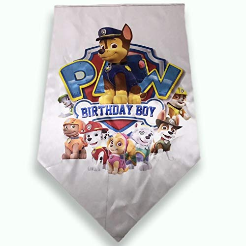 NEW 30x50in Paw Patrol Decoration Silver Banner Room Fan for Birthday Party Boy