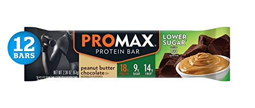(Promax Low Sugar Peanut Butter Chocolate, 18g High Protein, 9g Sugar, No Artificial Ingredients, 12 Count)