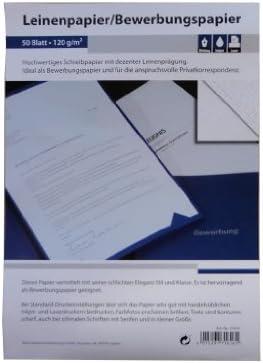 50 Blatt Leinenpapier 120g/m² DIN A4 ideal für Bewerbung