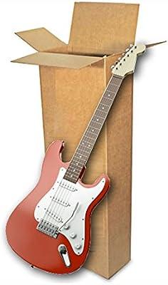 EcoBox - Caja de cartón para transportar guitarra eléctrica (45,7 x 15,2 x 114,3 cm): Amazon.es: Oficina y papelería