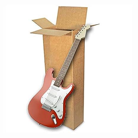 EcoBox - Caja de cartón para transportar guitarra eléctrica (45,