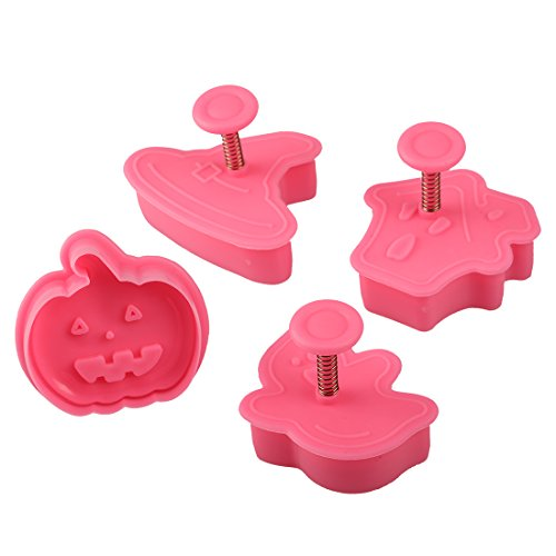 Mini Baking Pumpkin Cookie Cutter Bakeware Tools Halloween Diy Sugarcraft Kitchen 4Pcs/Set]()