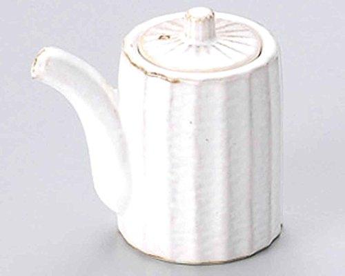 Kobiki Shinogi 2.4inch Set of 10 Soy Sauce Dispensers Beige porcelain Made in Japan by Watou.asia