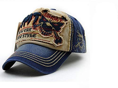 レジャー野球帽男性用スナップカセット女性用帽子アクセサリー,青,56?62cm