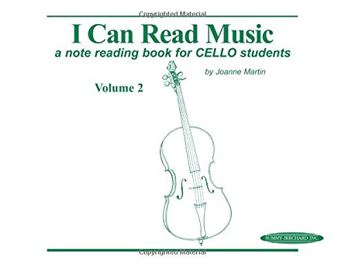 Note Reading Book (I Can Read Music, Vol 2: A note reading book for CELLO students)