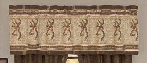 Browning Buckmark Cotton Rod Pocket Tailored Curtain Valance