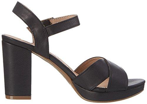 XTI 030546, Sandalias de Tacón Mujer Negro (Black)
