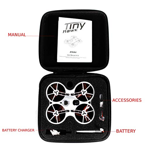 EMAX Tinyhawk Brushless Micro Indoor Racing Drone Whoop 75mm BNF FRSKY Ready to Fly FPV Beginners Durable Inverted Motors Full Acro Level Horizon Mode by EMAX (Image #5)