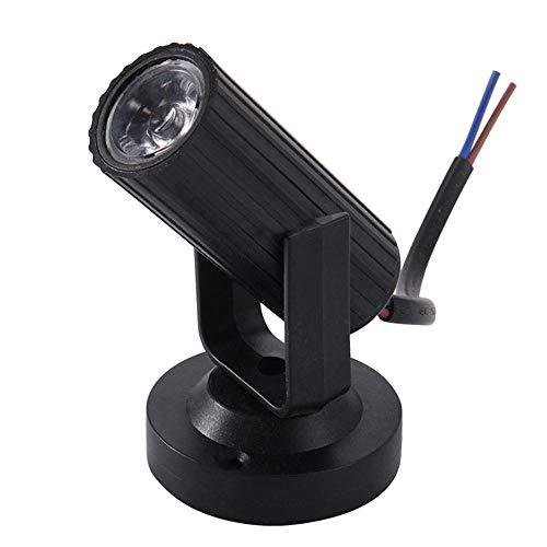 KOBWA Mini Foco de Etapa LED Portátil Luces de Etapa Moving Cabeza Giratoria Iluminación Beam Pinspot Luz con Soporte para...