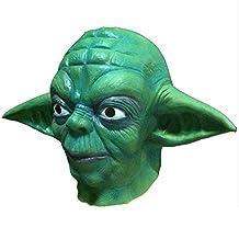 Mardi Gras Masks Halloween Party Latex Jaffaite Plastic Masquerade Masks Funny Scary Haunted House Best Face Mask Headgear Decorations Moive Film Star Wars Yoda