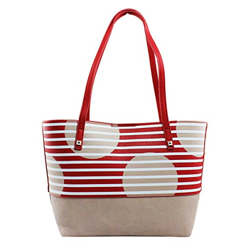 BORSA DONNA PATRIZIA PEPE SHOPPING BAG VERTICALE RED / ROSE 2V6447 117 Falsa Separación FcEFiZyFS