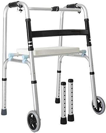歩行器介護 座れる高齢者 ウォーカー多機能ウォーカー高齢者障害者四足ライト折りたたみウィールド・ウォーカー 移動・歩行支援歩行器