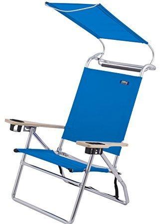 Amazon.com: Deluxe Multi Posición Canopy silla de playa ...