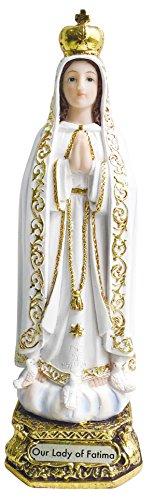 Nueva llegada Fabulous diseño nuestra señora de fátima Estatua Católica Vírgenes Virgen Santa Fátima Estatua, Dorado,...