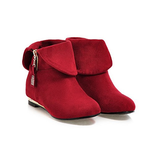 Metal AdeeSu Foldable Ornament Diamond Square Womens Glass Boots Heels Red Frosted q0gwr4Btg