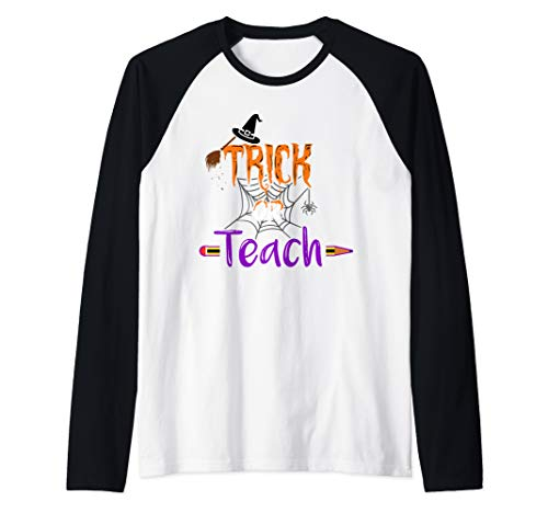 Easy Diy Halloween Costumes For College Students (Trick Or Teach Funny Easy Halloween Teacher Costume DIY Cute Raglan Baseball)
