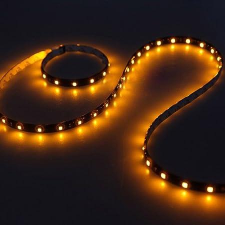 SODIAL(R) 60CM 30 SMD Tira de Luz LED Neon Flexible Impermeable para Coche - Blanco: Amazon.es: Hogar