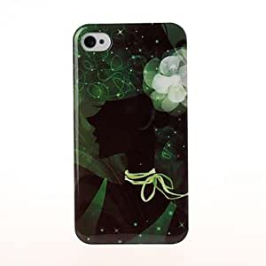 SHOUJIKE Beauty Girl Pattern Plastic Hard Case for iPhone 4/4S