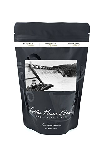 Grand Coulee Dam, Washington - View of the Cascading Side of the Dam (8oz Whole Bean Small Batch Artisan Coffee - Bold & Strong Medium Dark Roast w/ Artwork) (Side Dam)