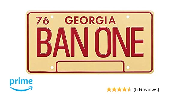 1977 Trans Am BAN ONE Smokey and The Bandit Metal Stamped Vanity Prop License Plate