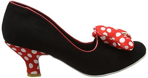 Irregular Choice Classic Minnie - Tacones Mujer negro (negro/rojo)